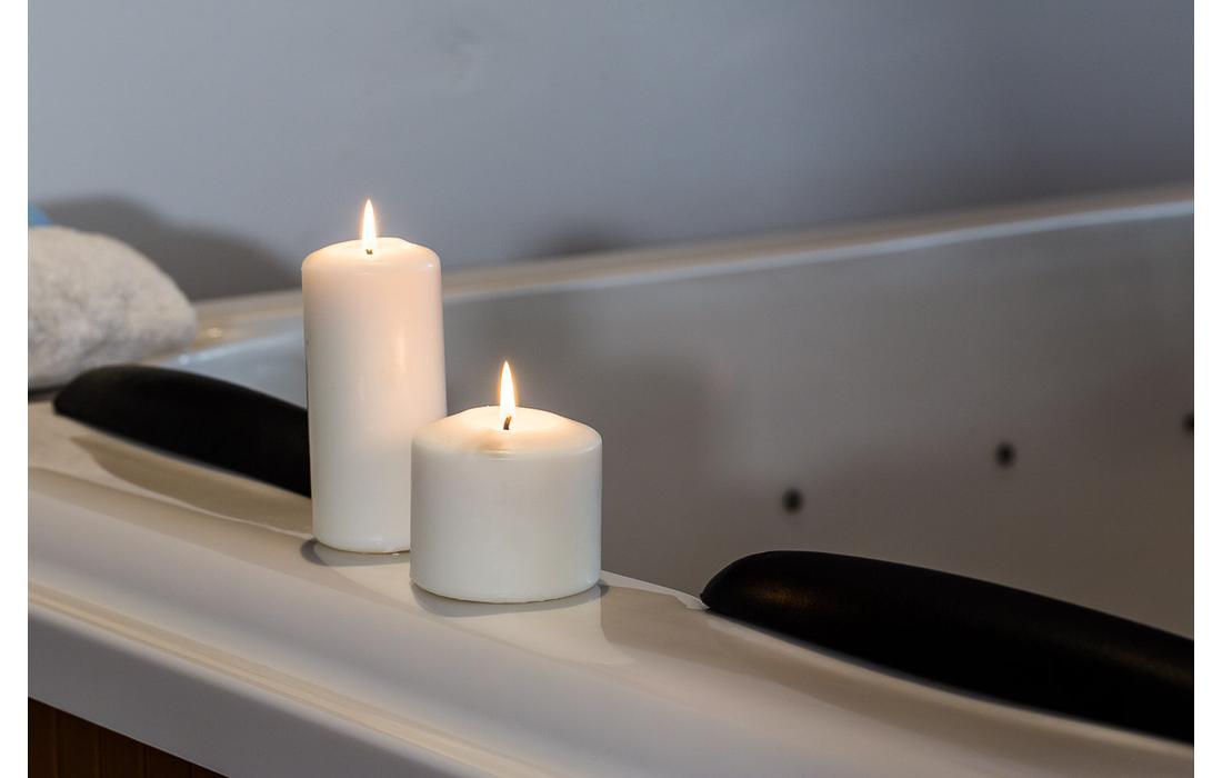 minipiscina idromassaggio beata dettaglio candele