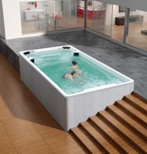 minipiscina idromassaggio e nuoto contro corrente